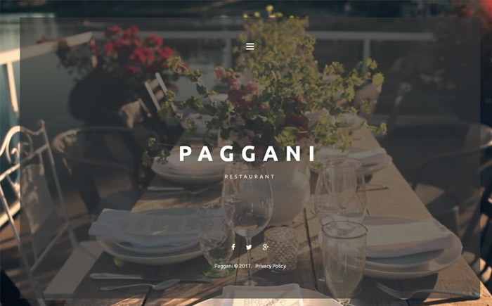 Cafe and Restaurant WordPress Theme 2
