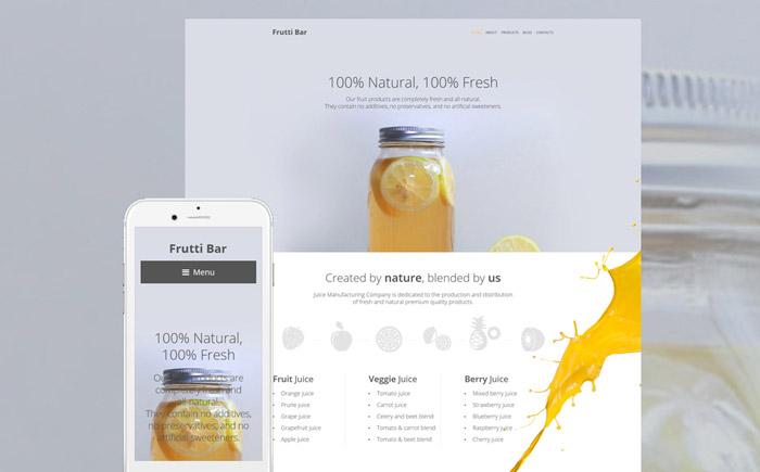 Healthy Bar WordPress Theme