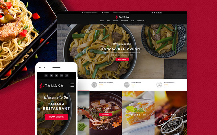 Japanese Restaurant Responsive WordPress Template