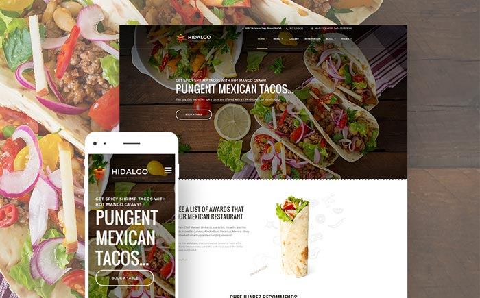 Mexican Food Restaurant WordPress Theme