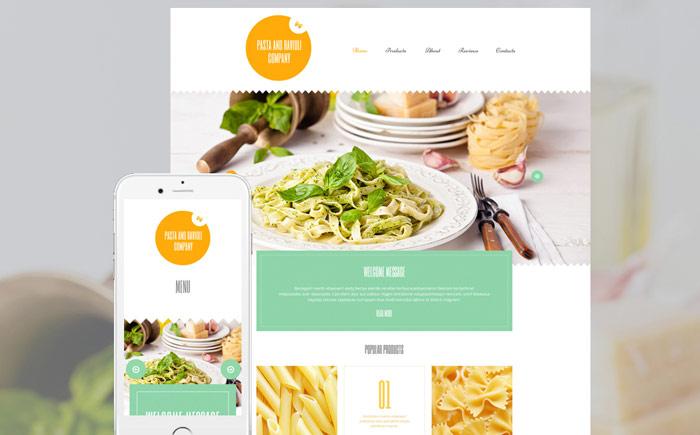 Pasta and Ravioli WordPress Template