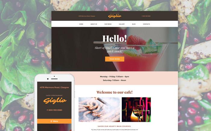 Pleasant Cafeteria Responsive WordPress Theme