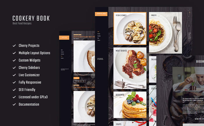 Recipes & Cooking Blog WordPress Theme