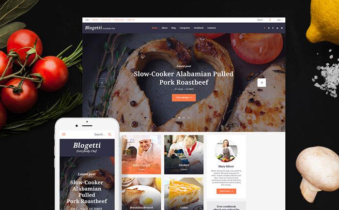 Restaurant Blog GPL WordPress Theme