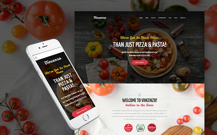 Rich Pizza Restaurant WordPress Theme
