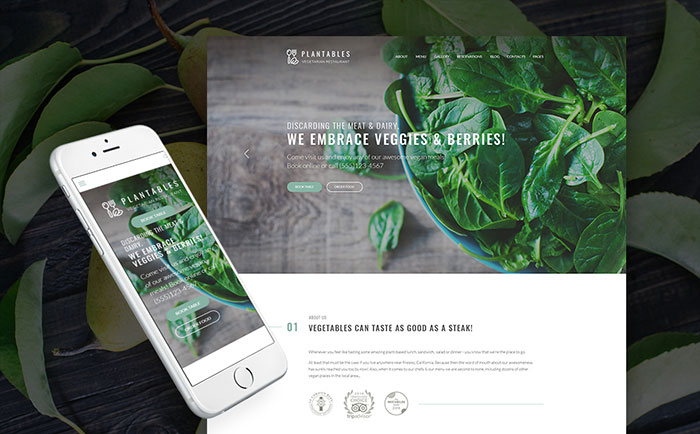 Vegetarian and Vegan Restaurant WordPress Theme