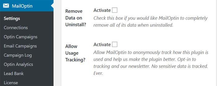 MailOptin Dasboard
