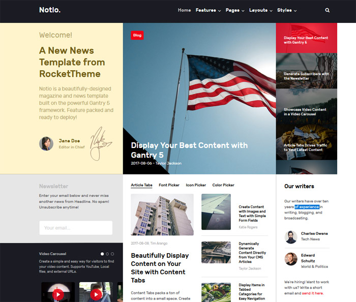 Notio - Joomla Template