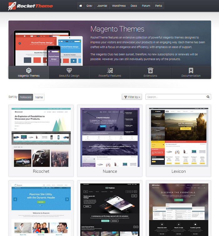 RocketTheme - Magento Themes