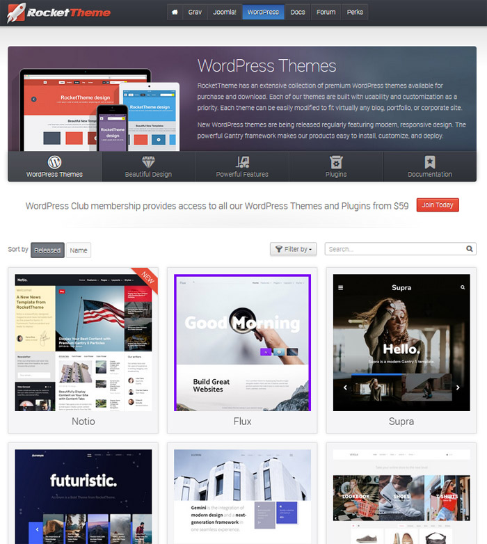 RocketTheme - WordPress Themes