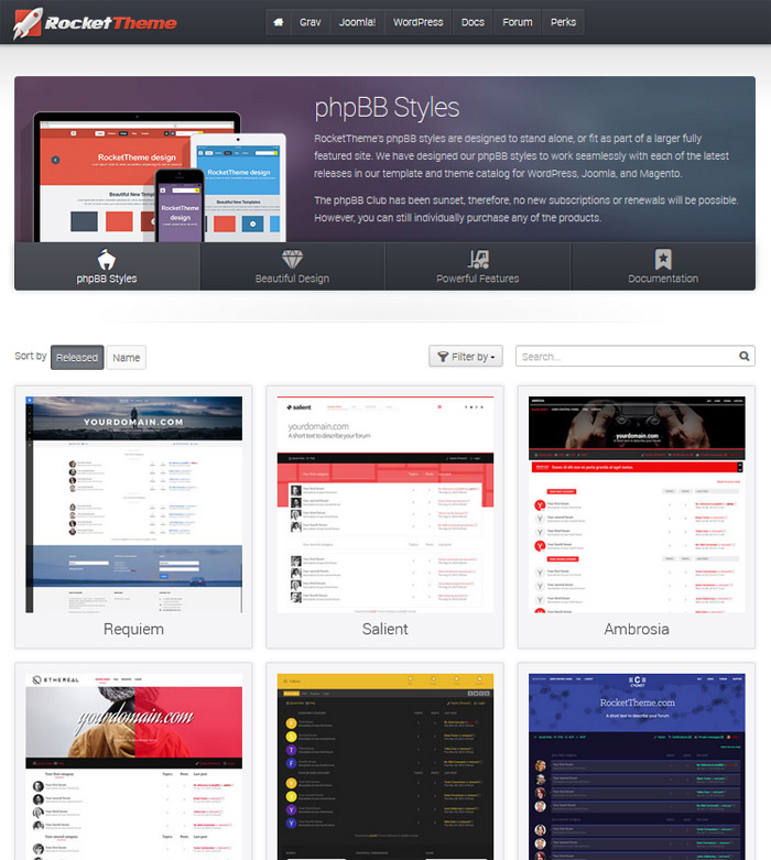 RocketTheme - phpBB Styles