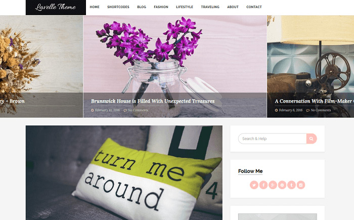 Lavelle - Free WordPress Theme