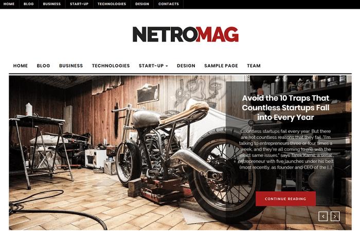 NetroMag - Free WordPress Theme