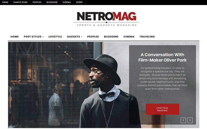 NetroMag - Homepage Slider