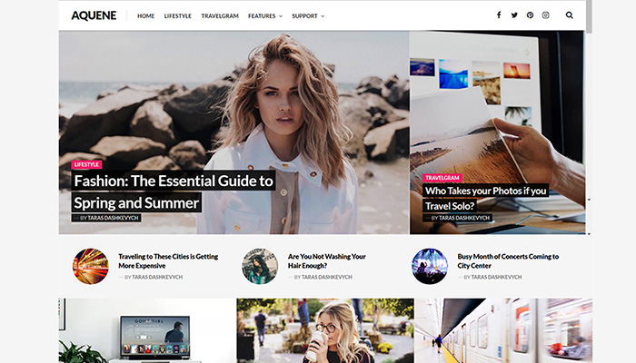 Aquene WordPress Theme