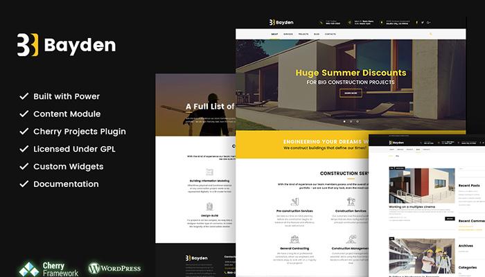 Bayden - Construction Company WordPress Theme