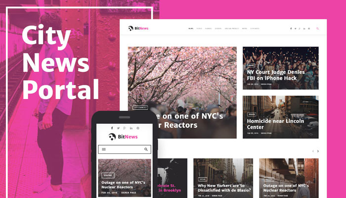 BitNews - Portal WordPress Theme