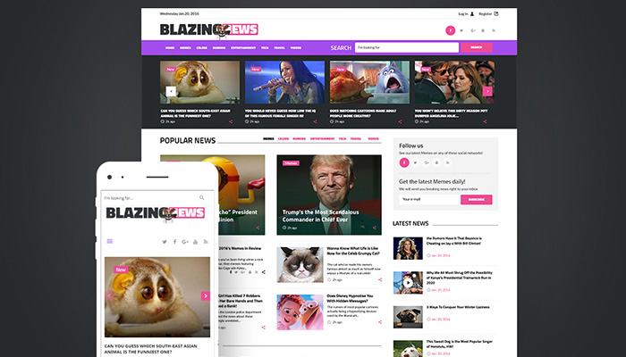 BlazingNews - Responsive WordPress Theme