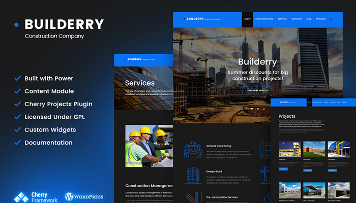 Builderry - Trustworthy Construction WordPress Template