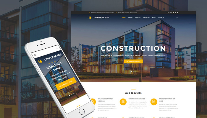 Contractor - Building Agency WordPress Theme