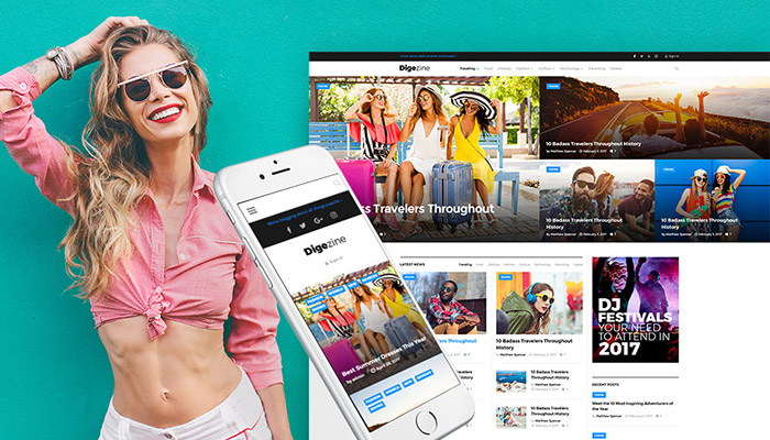 Digezine - News Magazine WordPress Theme