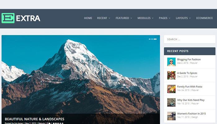 Extra - Magazine Visual Page Builder