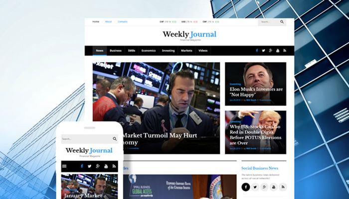Financial Magazine WordPress Theme