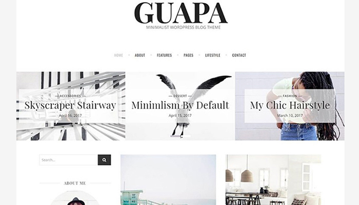 Guapa - Minimalist WordPress Blog Theme