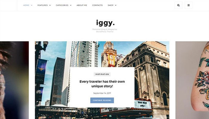 Iggy - Clean Blog WordPress Theme