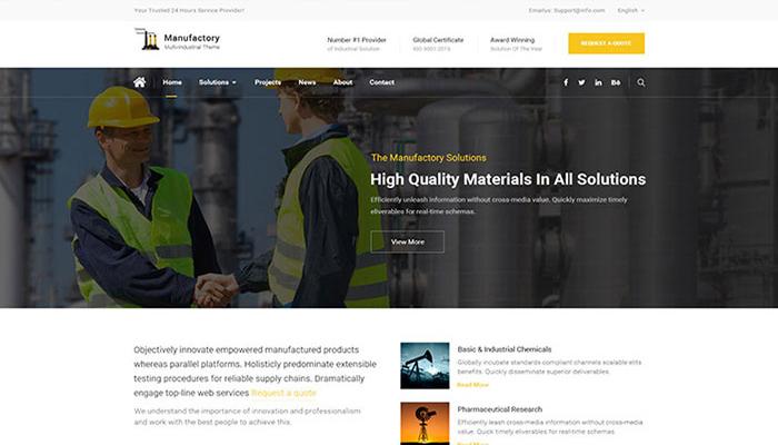 Manufactory - Industrial WordPress Template