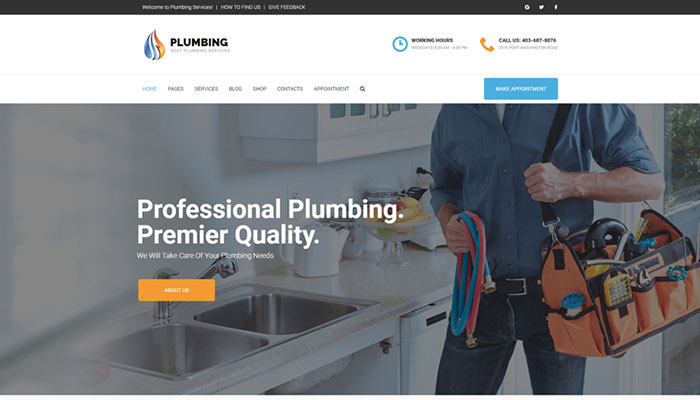 Plumbing - Home Services WordPress Template