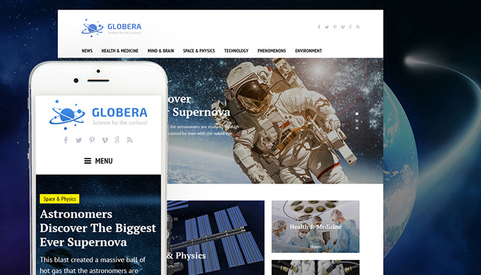 Science News Portal WordPress Theme