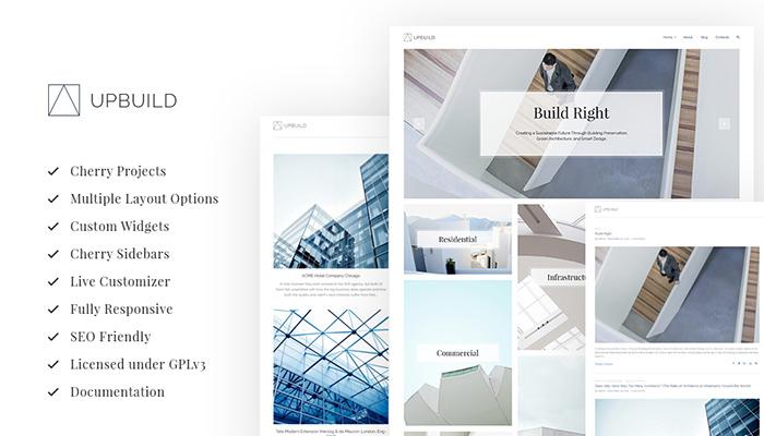 Upbuild - Clean Architecture WordPress Design