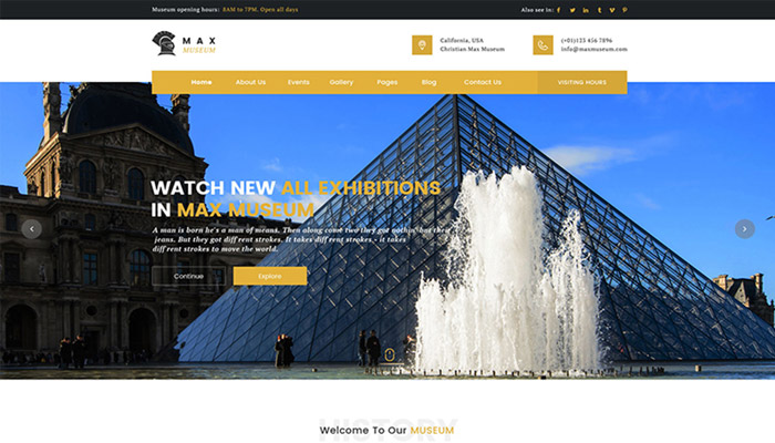 Max Museum - WordPress Theme for Museums