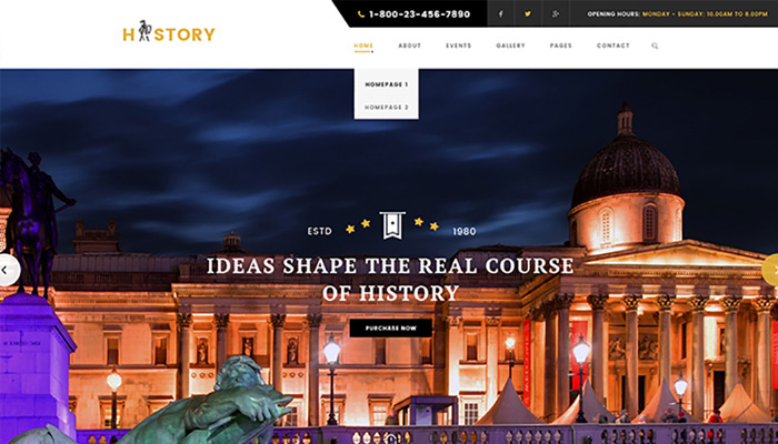 Museum & Archeology WordPress Theme