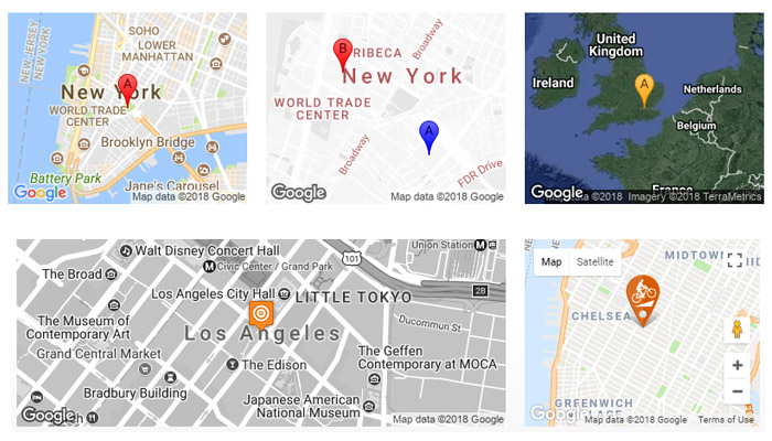 Interactive Google Map Options