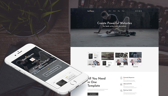 Paul Adams CMS 3 Template