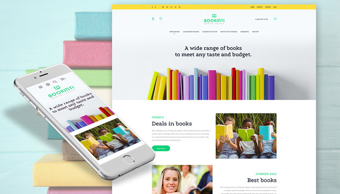 PrestaShop Design for a Book E-store