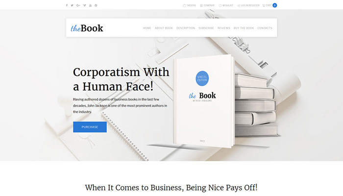 WooCommerce Single-Page Book Theme