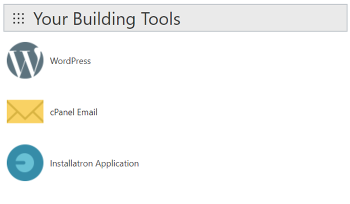 Your Building Tools on Godaddy