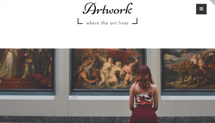 Art & Culture WordPress Template