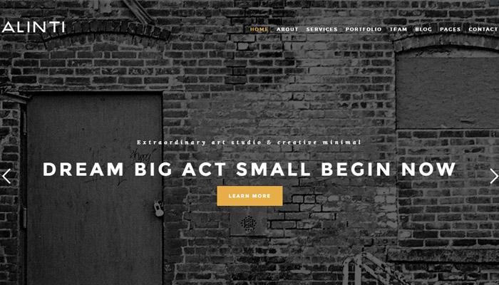 Elegant Minimalist Portfolio WordPress Template
