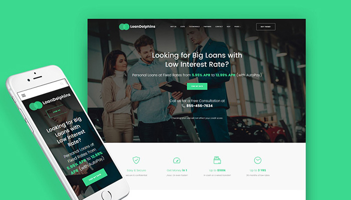 Bank Page WordPress Template