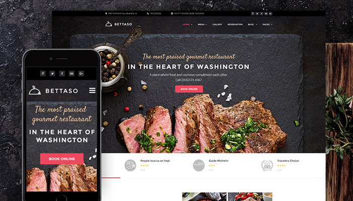 Top 10 Restaurant WordPress Themes In 2018
