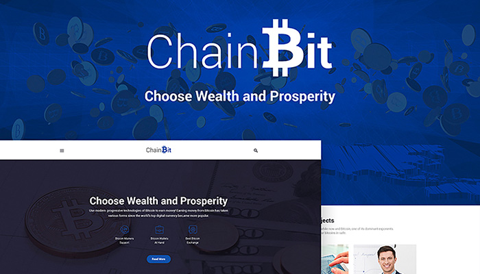 BitChain WordPress Site Design