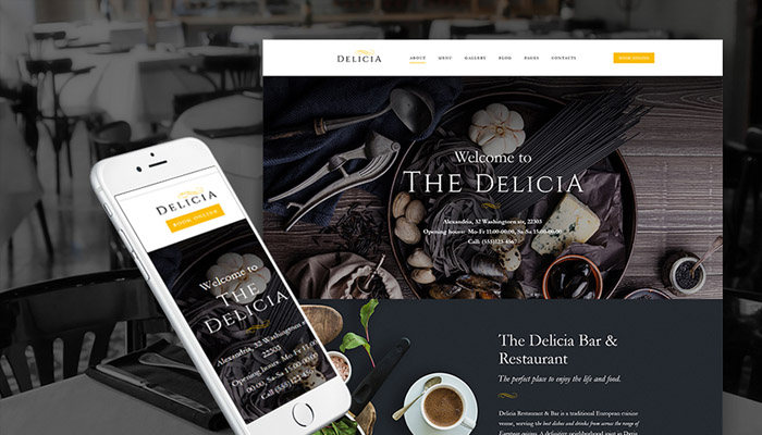 Delicia Restaurant Theme