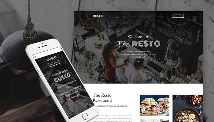 Gusto Restaurant Theme