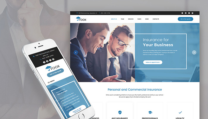 Insurance Agency WordPress Site