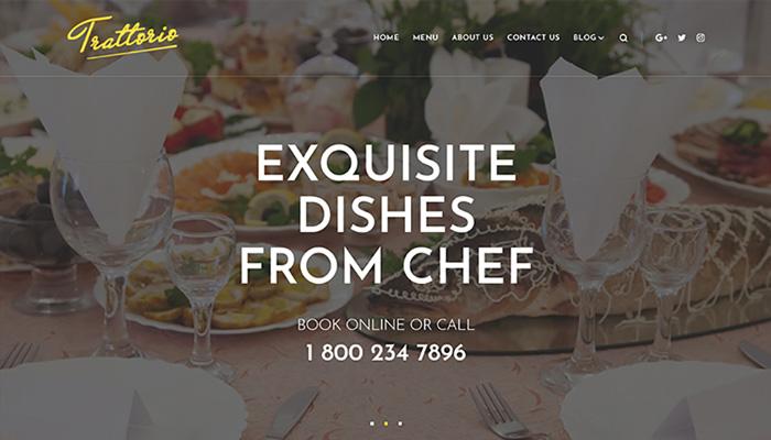 Trattorio Restaurant Theme