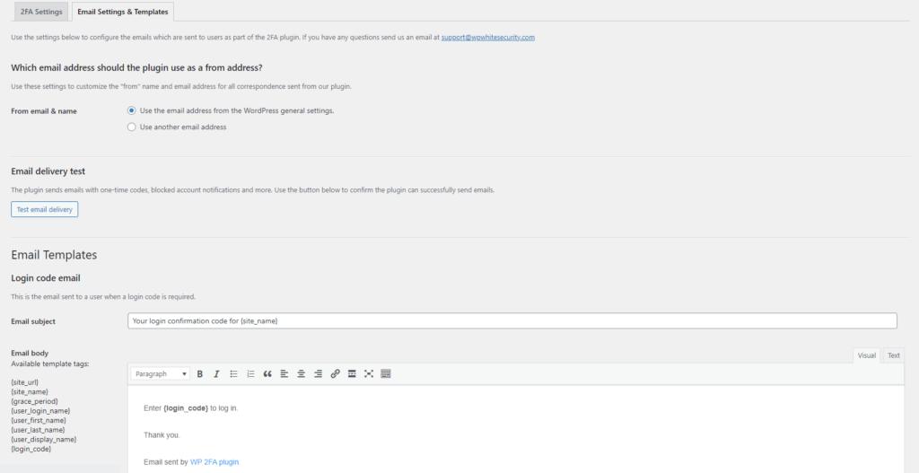WP 2FA Plugin for WordPress